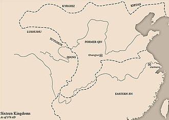 Former Qin - Image: Sixteen Kingdoms 376 AD