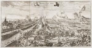 "Slaget vid Prag (1648), ur ""Theatri Europæi..."" 1663 - Skoklosters slott - 99875.tif"