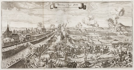 "The Swedish siege of Prague in 1648 Slaget vid Prag (1648), ur ""Theatri Europaei..."" 1663 - Skoklosters slott - 99875.tif"