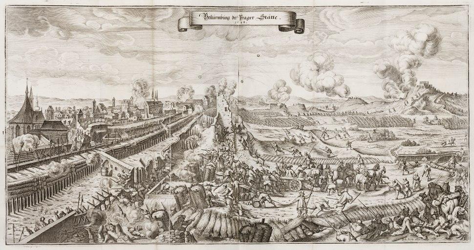 "Slaget vid Prag (1648), ur ""Theatri Europæi..."" 1663 - Skoklosters slott - 99875"
