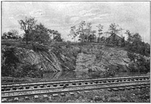 Ijamsville, Maryland - 1898 photograph of a disused quarry in Ijamsville