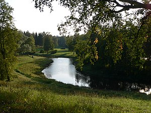 Pavlovsk Park - The Slavyanka River in Pavlovsk Park in autumn