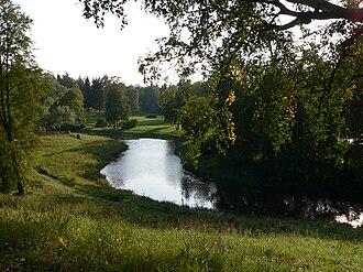 Pavlovsk Park - The Slavyanka River in Pavlovsk Park in autumn