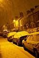 Snow showers by street light, Taunton, Somerset (3257603875).jpg