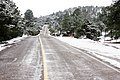 Snowy road in Creel, Chihuahua México.jpg