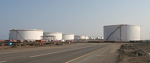 Economy of Oman - Petrochemical tanks in Sohar