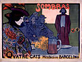 Sombras, cartell realitzat per Ramon Casas i Miquel Utrillo..JPG