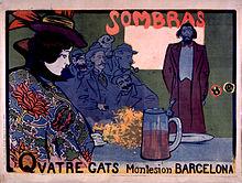 Manifesto pubblicitario per Els Quatre Gats