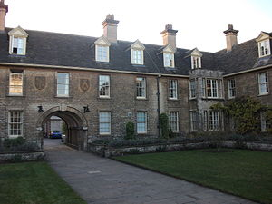 1933 in architecture - Image: Somerville College, Oxford Darbishire quad