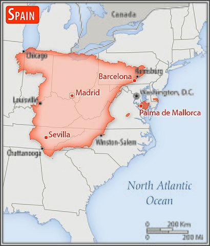 Map Of Spain And Us.File Spain U S Area Comparison Jpg Wikimedia Commons