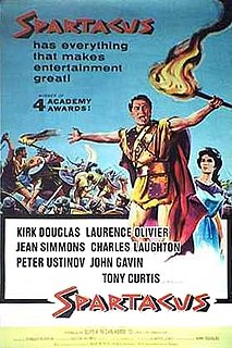 1960 American epic historical drama film directed by Stanley Kubrick