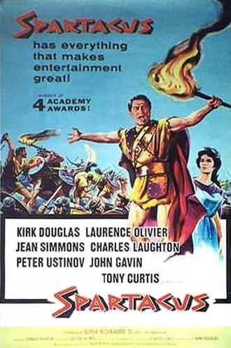 Spartacus (film) - Theatrical release poster by Reynold Brown