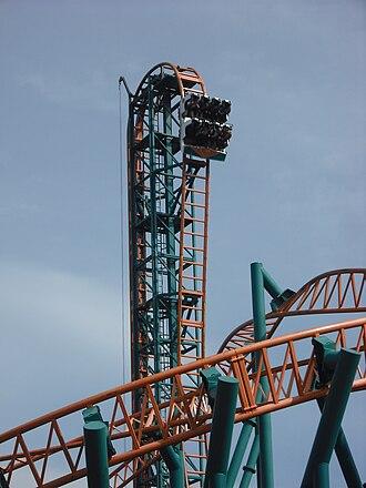 Oakwood Theme Park - Speed's initial drop