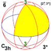 Sphere symmetry group c3h.png