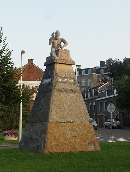 Sprimont (Belgium): Monument to the stonecutters