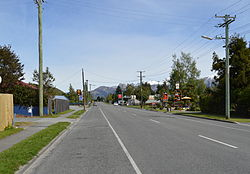 West Coast Road (State Highway 73), the main street of Springfield