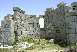 Kessab - The remains of St. Barlaam Monastery on Mount Casius in Turkey, around 800 meters away from the borderline north of Kessab