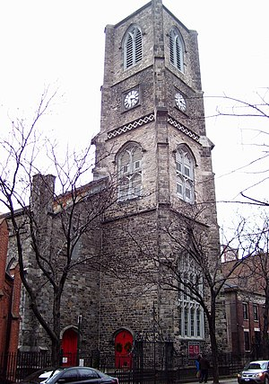 St. Peter's Episcopal Church (Manhattan) - View of the church from the east