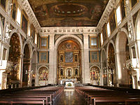 The Interior Of The São Roque Church In Lisbon, Portugal Illustrates The  Rich Baroque Architecture In Its Chapels, Including The Chapel Of St. John  The ...