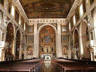 Igreja de São Roque - Interior of the Church, looking towards the main altar