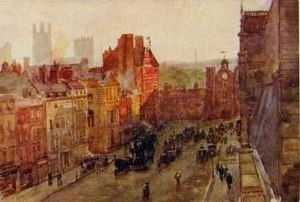 St James's Street - St James's Street and St James's Palace, chromolithograph, about 1890