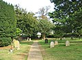 St John the Baptist's church - path through the churchyard - geograph.org.uk - 1507401.jpg