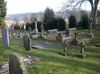 Duke of Devonshire - St Peter's Church, Edensor, Cavendish family plot with the graves of the Dukes of Devonshire