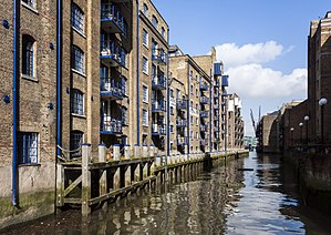 St Saviour's Dock - St Saviour's Dock (View North to Thames)