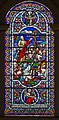 Stained glass window, All Saints' church, Gainsborough (18189675392).jpg