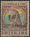 Stamp of Albania - 1914 - Colnect 337707 - Former Issue with overprint by hand - 7 Mars.jpeg