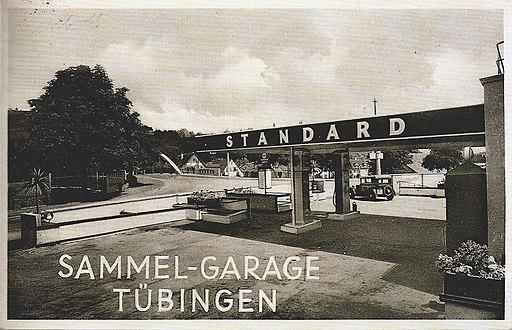Standard-Tankstelle Tübingen (AK Frankh 1935 TPk159)