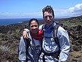 Starr-030716-0048-Dodonaea viscosa-plot monitoring with Kim and Forest-Kanaio-Maui (24269610879).jpg