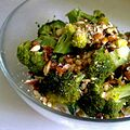 Steamed broccoli with dried tomatoes and crushed almonds (7494317812).jpg
