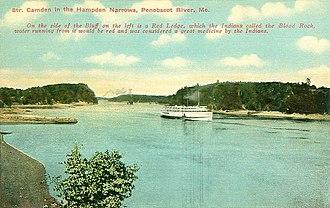 Hampden, Maine - Hampden Narrows on the Penobscot River, c. 1910