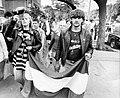 Stefánia (Népstadion) út 22. Tüntetés a nagymarosi vízierőmű ellen a csehszlovák nagykövetség előtt. Fortepan 9629.jpg