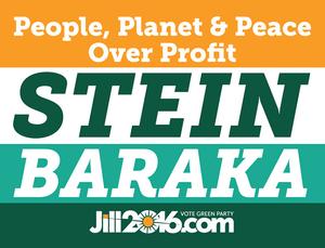 Jill Stein presidential campaign, 2016 - Image: Stein Baraka