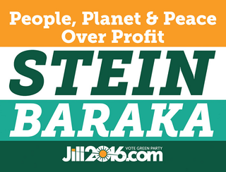 Jill Stein 2016 presidential campaign campaign by the Green Party candidate to become the 45th President of the United States