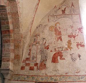 Stenkyrka Church - Medieval frescos in Stenkyrka Church