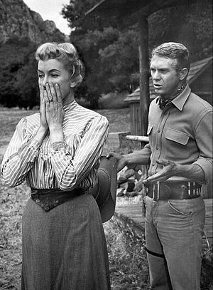 Virginia Gregg - With Steve McQueen in Wanted Dead or Alive (1959)