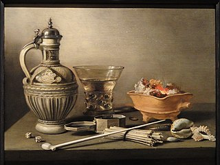 Still Life with a Stoneware Jug, Berkemeyer and Smoking Utensils