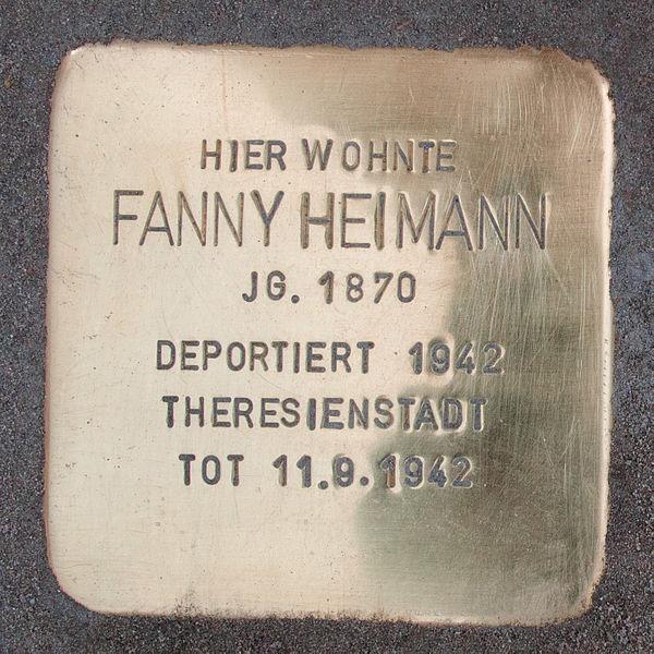 File:Stolperstein-Schwäbisch Gmünd-Fanny Heimann.jpg