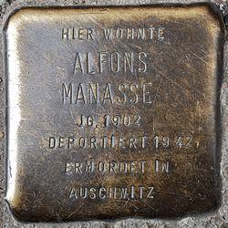 Photo of Alfons Manasse brass plaque