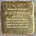 Stolperstein Arno Lukmanski Esch-Alzette, 88 rue du Brill 01.jpg