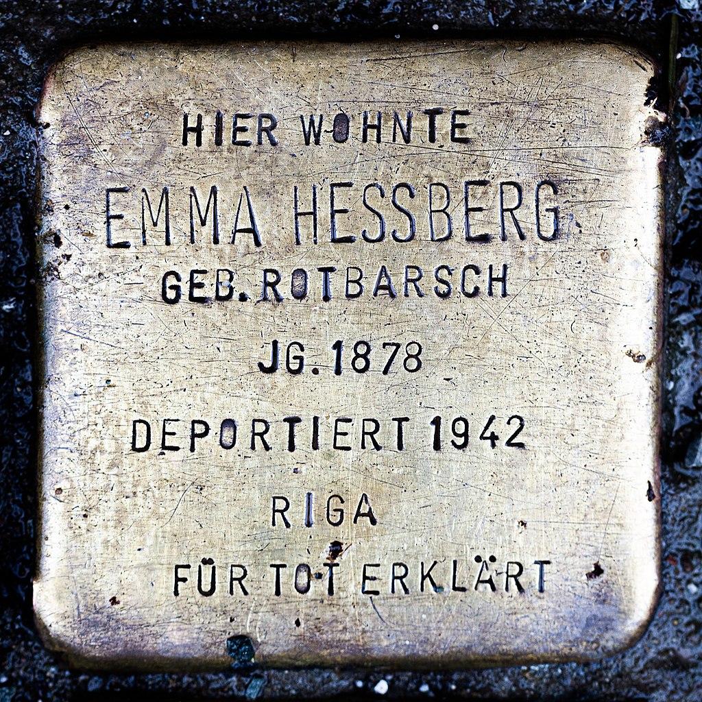 Stolperstein CC Emma Hessberg Rotbarsch 1878-1942.jpg