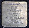 Stolperstein Cosimaplatz 5 (Fried) Else Friedemann.jpg