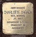 Stolperstein Hektorstr 16 (Halsee) Charlotte Orbach.jpg