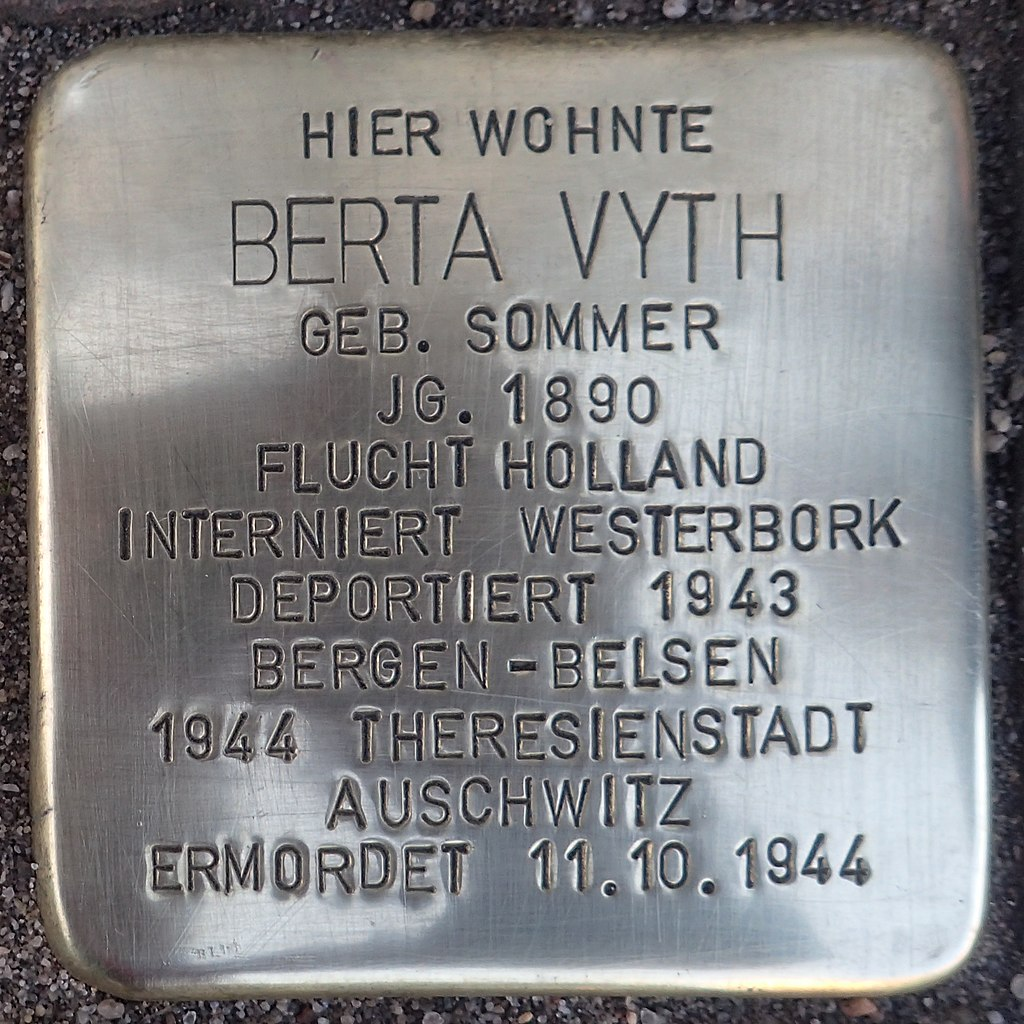 Stolperstein Kalkar Kesselstraße 19 Berta Vyth