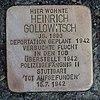 Stumbling Stone Leutkirch Karlstrasse 12 Heinrich Gollowitsch