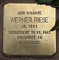 Stolperstein Pariser Str 11 (Wilmd) Werner Riese.jpg