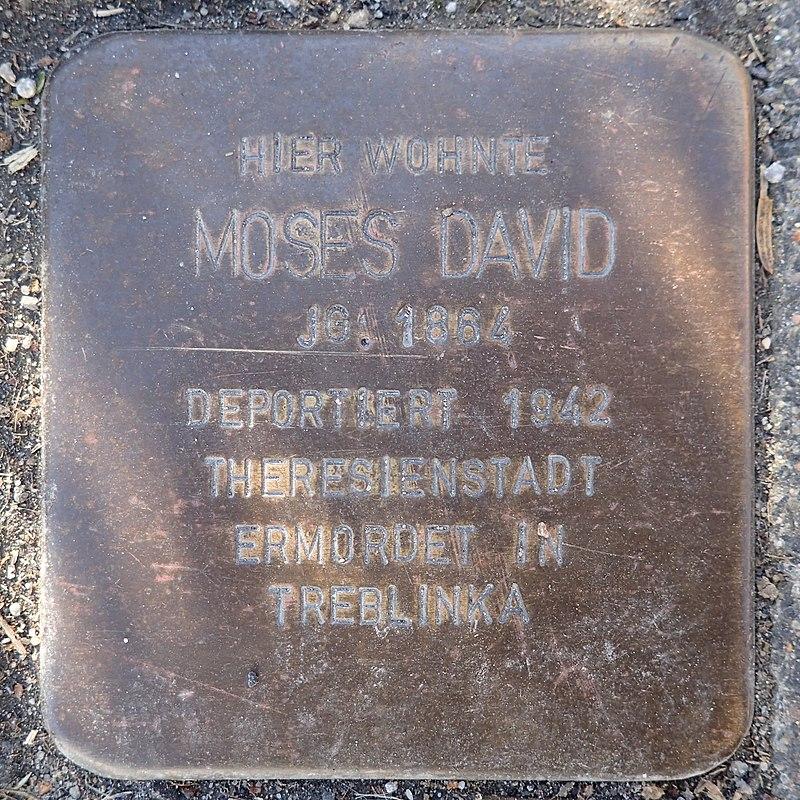 Stolperstein Rheurdt Rathausstraße 27 Moses David